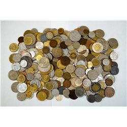 A Lot of World Coins Weighting over 3 Pounds, No British Coins!