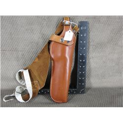 Hidden Thunder Leather Holster for Large Revolver