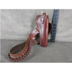 Leather Holster & Cartridge Belt