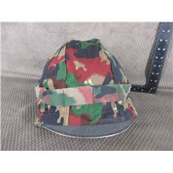 Military Style Helmet with Camo Covering