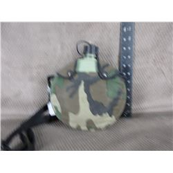 Plastic Canteen with Camo Covering