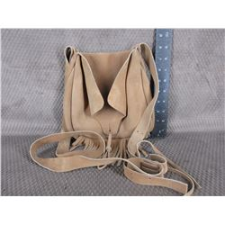 Suede Leather Possibles Black Powder Bag