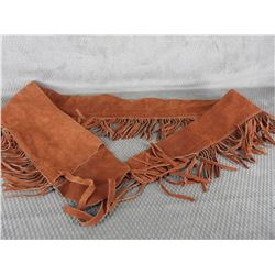 "58"" Suede Leather Fringed Case for Muzzle Loader"