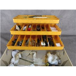 Tool Box with Gun Cleaning Supplies