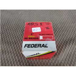 "Box of Federal 410 ga 3"", 11/16 oz, #6 shot"