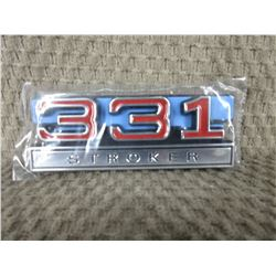 Set of 2 Plastic 331 Stroker Stick-on Emblems