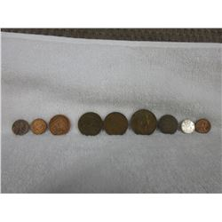 9 Coins - Misc. Countries