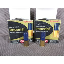 "12 Ga 2 3/4"" 2 boxes of 25 Imperial with 1 1/4 oz of #6"