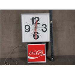 Coca-Cola Wall Clock - Working when Tested