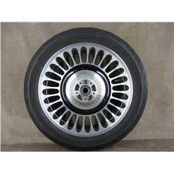 130/80B17 M/C 65H Dunlop D408F H-D Front Tire on Harley Davidaon Wheel