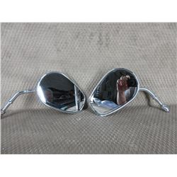 Set of 2 Chrome Motorcycle Mirrors