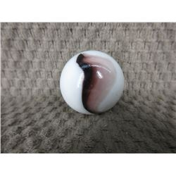 Vintage Large White &  Brown Marble 1 3/8 inch