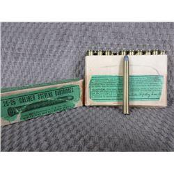 25-25 Stevens, 1 Box of 20, Winchester 86 Gr Lead