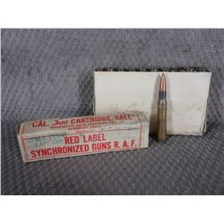 .300 Cartridge, Ball Box of 20 Remington Red Label R.A.F.