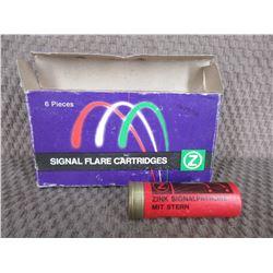 "Signal Flare Cartridges 12 Ga 2 3/4"" Box of 6"