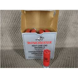 "12 Ga 2 3/4"" Box of 25, Winchester 1 1/8 oz # 4 Shot"