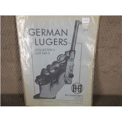 German Lugers Collector's List No. 2 by Hy Hunter's