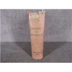 Manual of Military Law War Office 1914