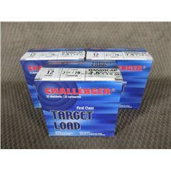 "12 Ga 2 3/4"" 3 Boxes of 25 Challenger 7.5 Shot 1 1/8 oz"
