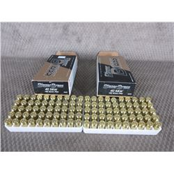 40 S&W 2 Boxes of 50, Blazer Brass 180 Gr FMJ