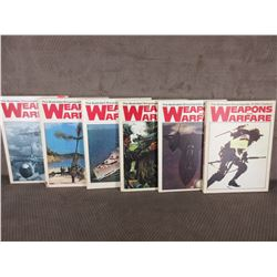 6 - Weapons & Warfare Encyclopedias No. 1, 4, 5, 7, 9, 12.