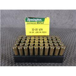 32-20 Win., Box of 50 Remington 100 Gr Lead