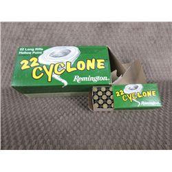 22 LR - Carton of 10 Boxes of 50 Remington Cyclone