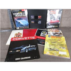 9 Corvette Books/Magazines/Brochures/Calender/Sticker