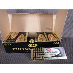 22 LR - CIL Pistol Match, Carton of 10 Boxes of 50