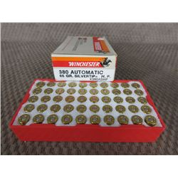 380 Automatic Box of 50, Winchester 85 Gr Silver Tip HP