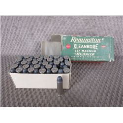 357 Magnun Box of 50 Rem. 158 Gr Lead Collector Ammo