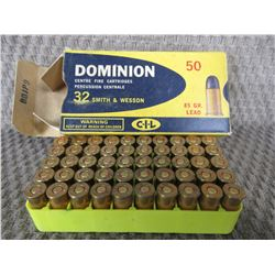 32 S&W Box of 50 CIL 85 Gr Lead Collector Ammo