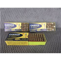 22 LR 3 Boxes of 50 CIL Greased, Vintage Collector Ammo