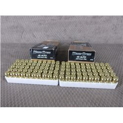 45 Auto 2 Boxes of 50, Blazer Brass 230 Gr FMJ