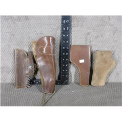 4 Leather Holsters