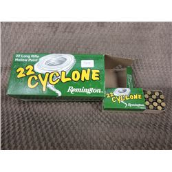 22 LR - Carton of 10 Boxes of 50 Remington Cyclone