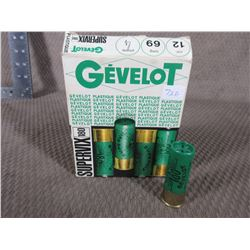 "12 Ga 2 3/4"" Box of 10 Gevelot Vintage Collector Ammo"