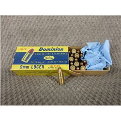 9mm Luger 1 Box of 32, CIL 124 Gr Collector Ammo