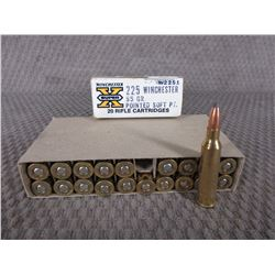 225 Win. Box of 20, Winchester 55 Gr PSP