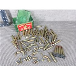 Lot of Misc. Rifle and 22 Shells Live and Brass