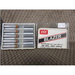 Salesman Sample CCI/Blazer 38 SPL./357 Mag.