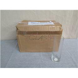 Qty 15 Libbey & Heron Glass Cylinder Vases Misc Size (some w/ Sony Logo)