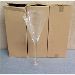 Qty 3 Tall Fluted Glasses 7  Diameter x 23 H