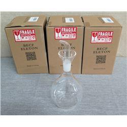 """Qty 3 Becf Eleton Oil/Vinegar Dispenser w/ No Drip Spout 10""""H"""