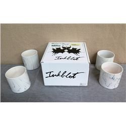 "Qty 8 Inkblot Cylinder Containers & 1 Box 5"" Diameter x 5""H"