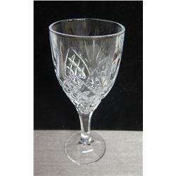 """Qty 25 Stemmed Wine Glasses (8"""" Tall) w/ Plastic Rack"""