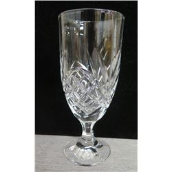"Qty 25 Etched Glass Parfait Goblets 3"" Diameter x 8""H in Plastic Rack"