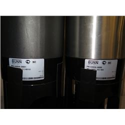 "Qty 2 Bunn 1.5 Gallon ThermoFresh Coffee Servers 44050.0001 23"" H"