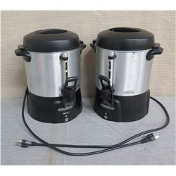 """Qty 2 Proctor Silex Commercial Coffee Percolator / Servers 14""""H"""