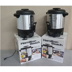 Qty 2 Hamilton Beach Cafeteria Dispensing Coffee Urns 40 Cup Capacity